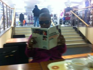 Readers with my book!