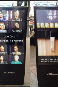 Samata in Lancôme posters around london!