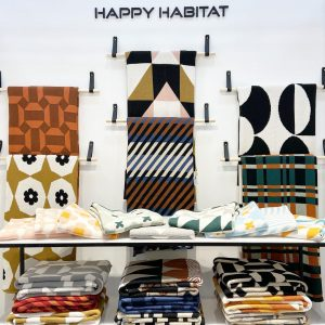 The Joyful, Unique and Sustainable Happy Habitat Throws